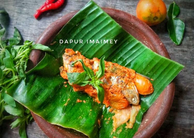 Resep Pepes ikan laosan + mangga muda
