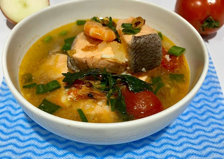 Resep Salmon Soup