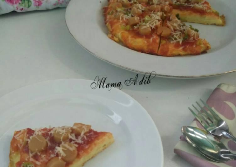 Resep Mpasi 12mo+ Pizza kentang sosis