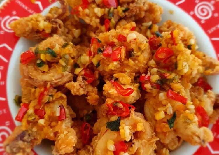 Resep Cumi goreng tepung cabe garam chinese food