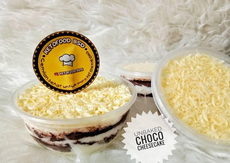 Resep Unbaked choco cheesecake #Keto