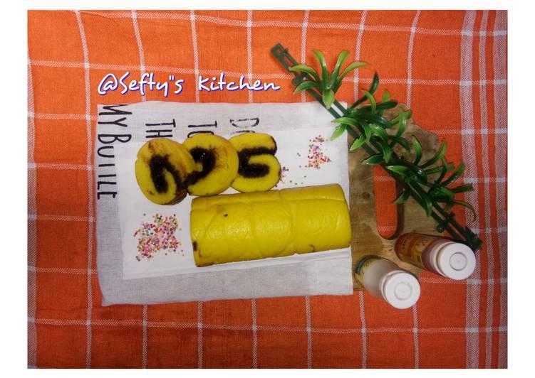 Resep Bolu Gulung Durian Coklat Lumer