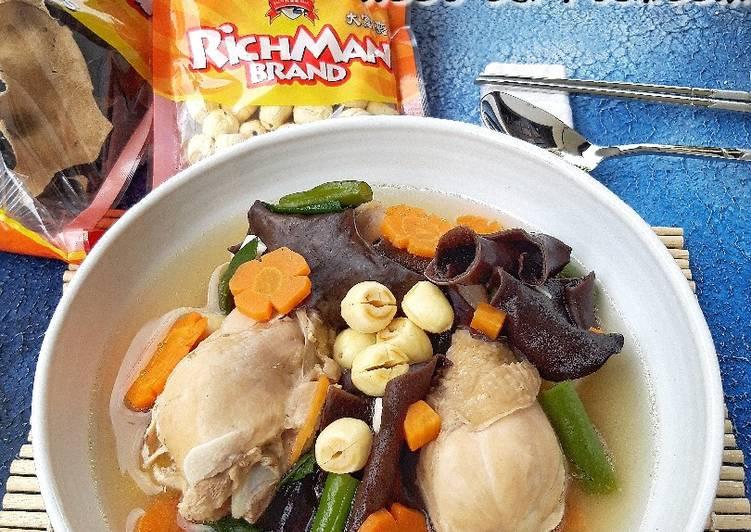 Resep (3.Chicken Soup with Lotus Seed & Wood Ear Mushroom
