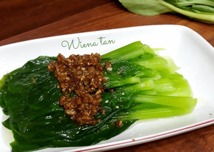 Resep Pokcoy siram Bawang Putih