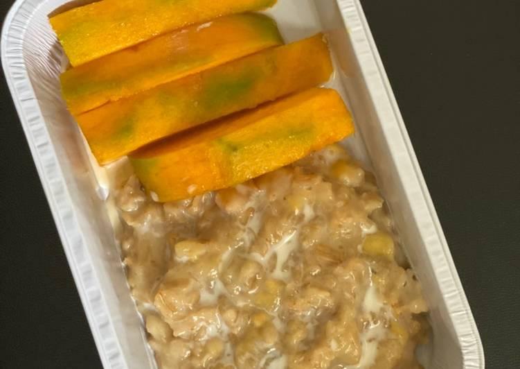 Resep Mango sticky oat (menu diet)