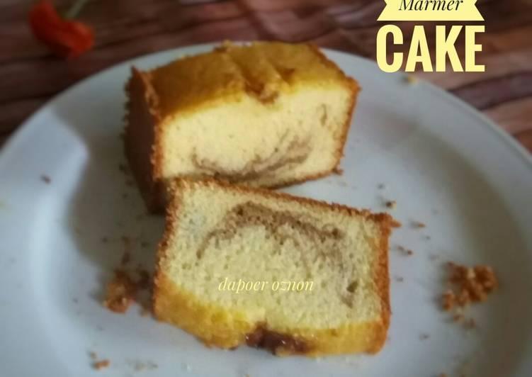 Resep Marmer Cake Simple (3 telur)