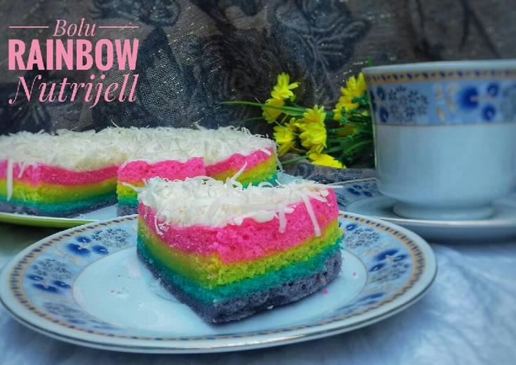 Resep Bolu Rainbow Nutrijell