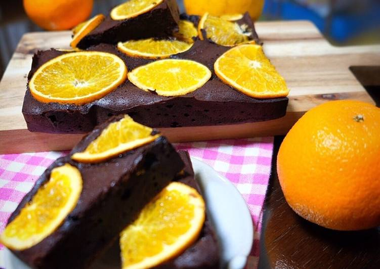 Resep Orange Brownies (Bake)
