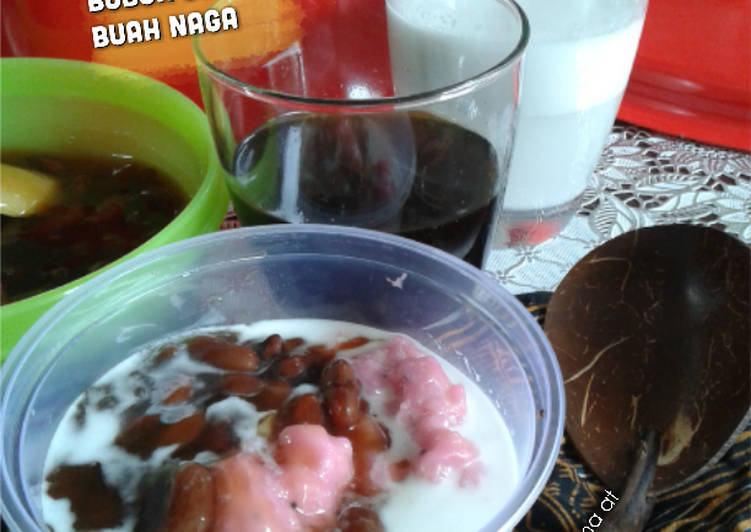 Resep Bubur Sumsum Buah Naga + Bubur Kacang Merah Madu #RabuBaru