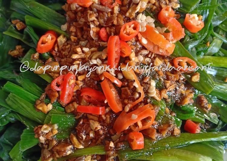 Resep Genjer bumbu cabe garam bawang putih