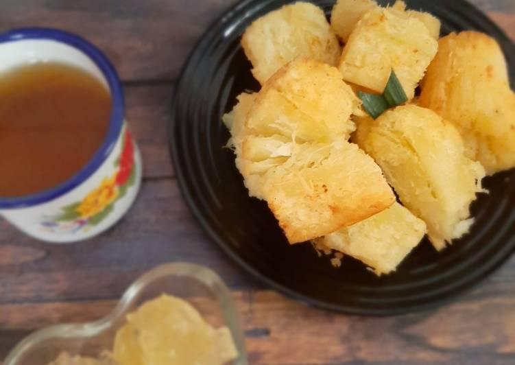 Resep Singkong goreng merekah