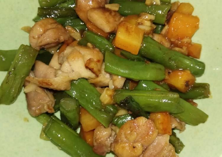 Resep Tumis buncis wortel ayam