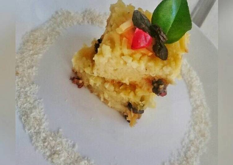 Resep Coconut Bread Pudding