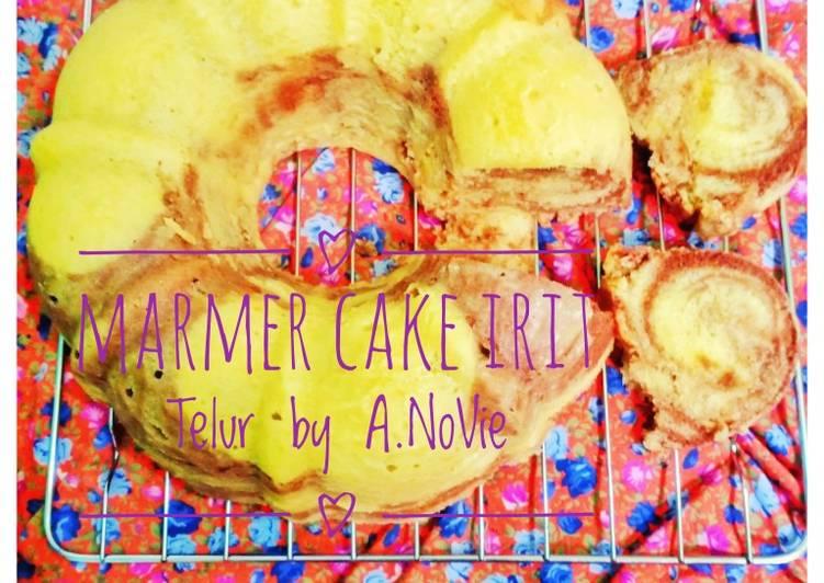 Resep Marmer Cake Irit Telur By.A.NoViE