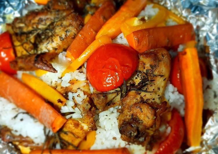 Resep Nasi Panggang Ayam dengan Rempah