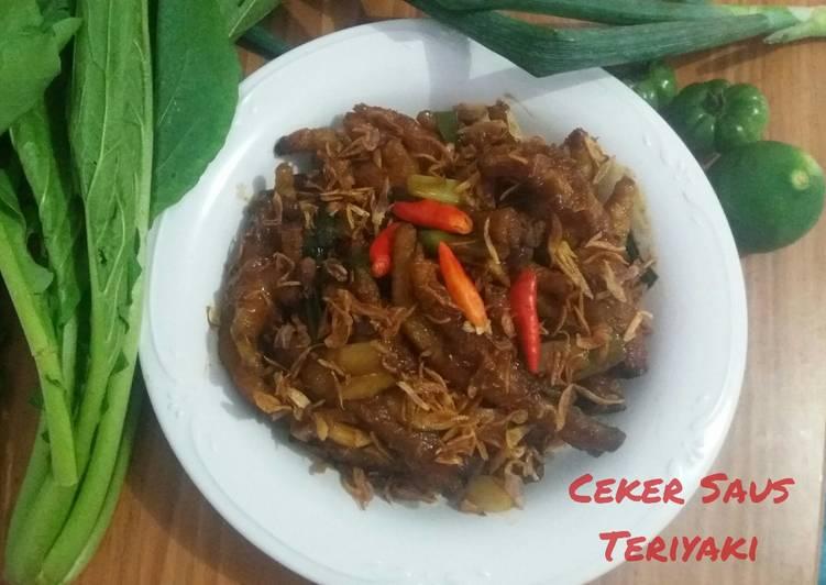 Resep Ceker saus Teriyaki
