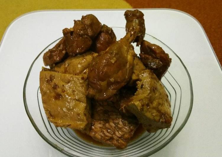 Resep Ayam, Tahu dan Tempe Bacem