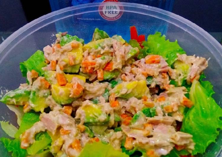 Resep Salad tuna alpukat