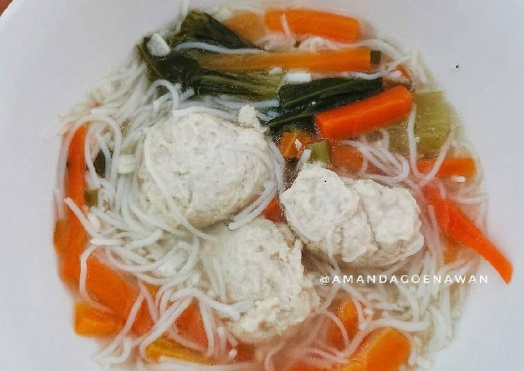 Resep Sup Bola Ayam Bihun