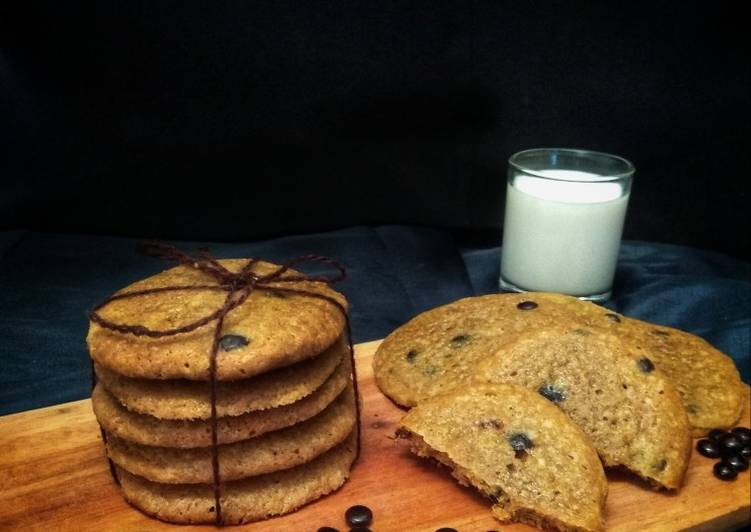 Resep Chewy Mocha Chocochips Cookies
