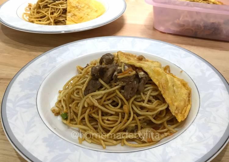 Resep Mie pedas cah sapi keju #homemadebylita