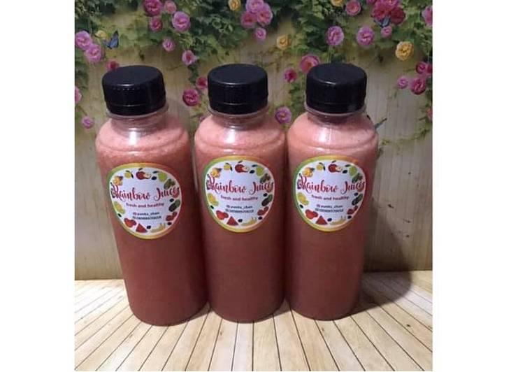 Resep Diet Juice Watermelon Strawberry Dates Pineapple