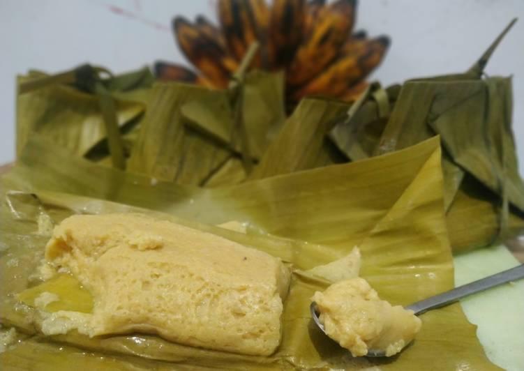 Resep Barongko kue khas bugis (dengan dan tanpa daun pisang)