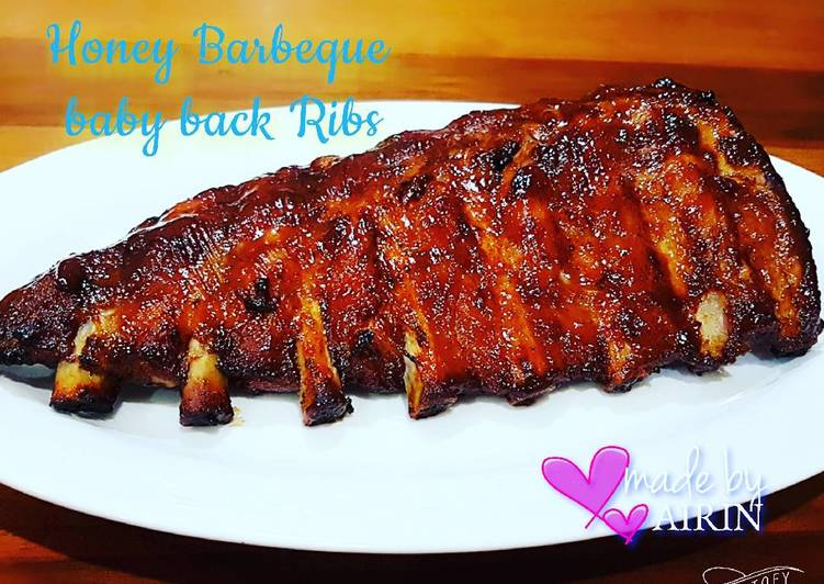 Resep Honey Barbeque baby back ribs