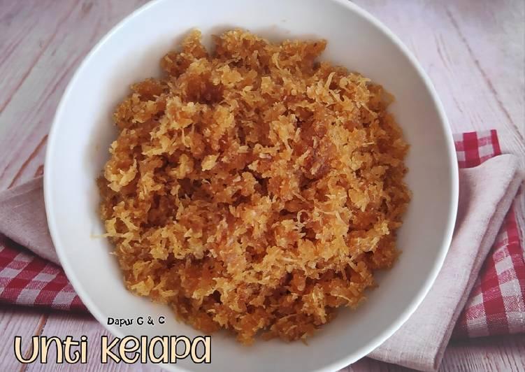 Resep Unti kelapa
