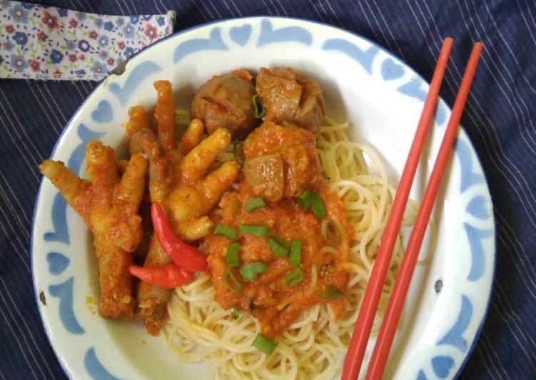 Resep Spaghetti w/ ceker mercon