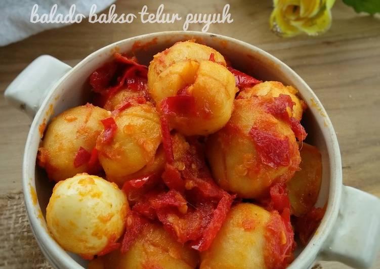 Resep Balado bakso telur puyuh (#pr_recookolahanbakso)