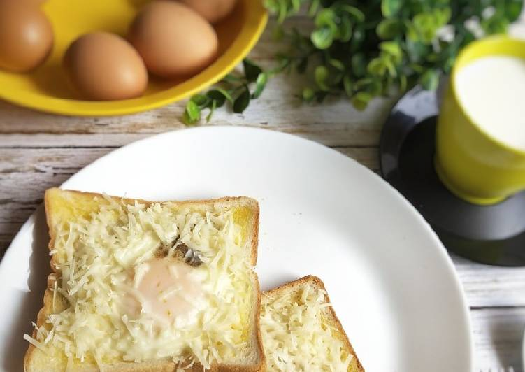Resep 1Cheese Egg Toast
