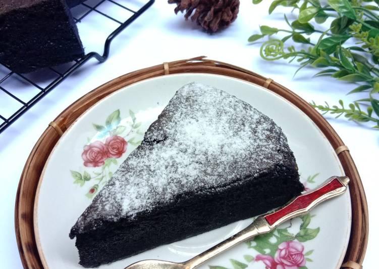 Resep Black Choco Ogura Cake