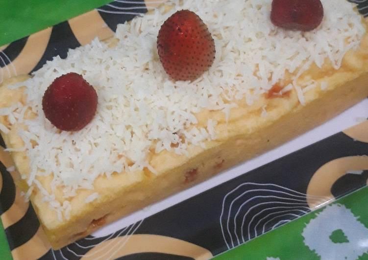 Resep #Brownies Kukus Nutricake Keju with Topping