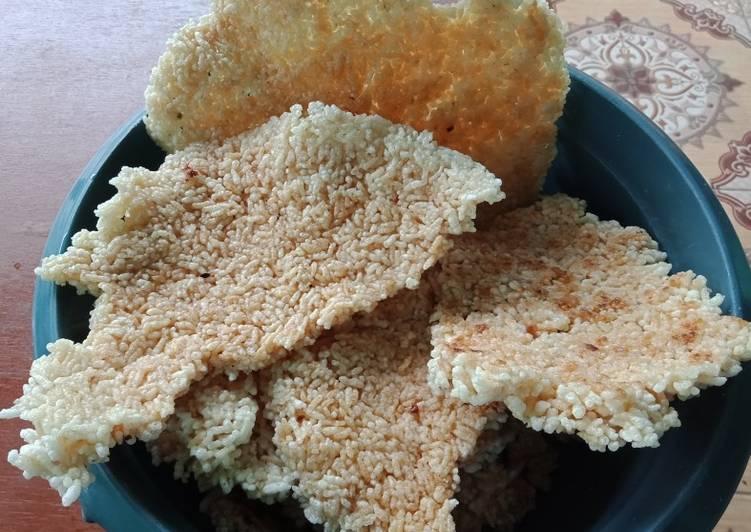 Resep Intip goreng (rice crispy)