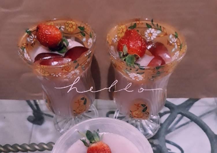 Resep Strawberries Panacota