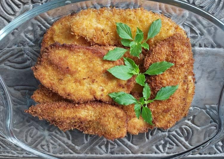 Resep Schnitzel Ayam - Dada Ayam Goreng Tepung