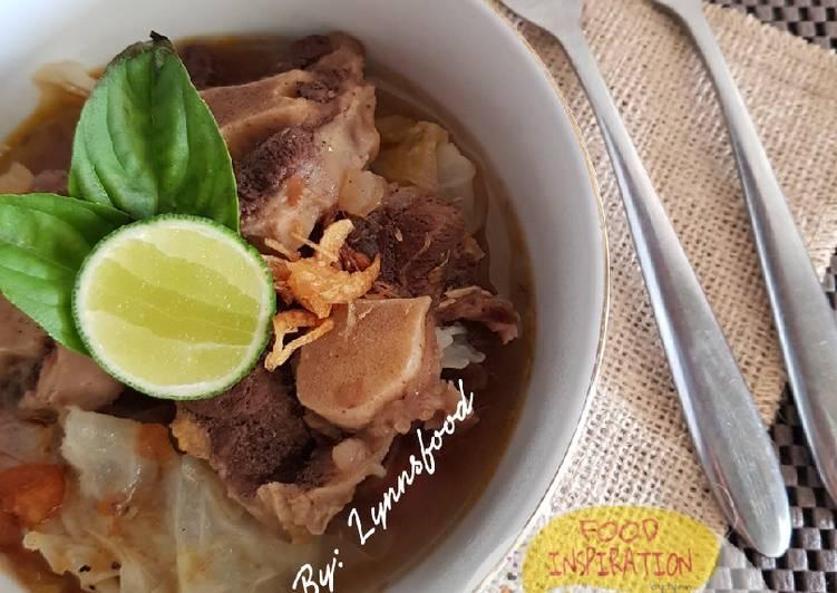Resep Oxtail Soup / Sop Buntut