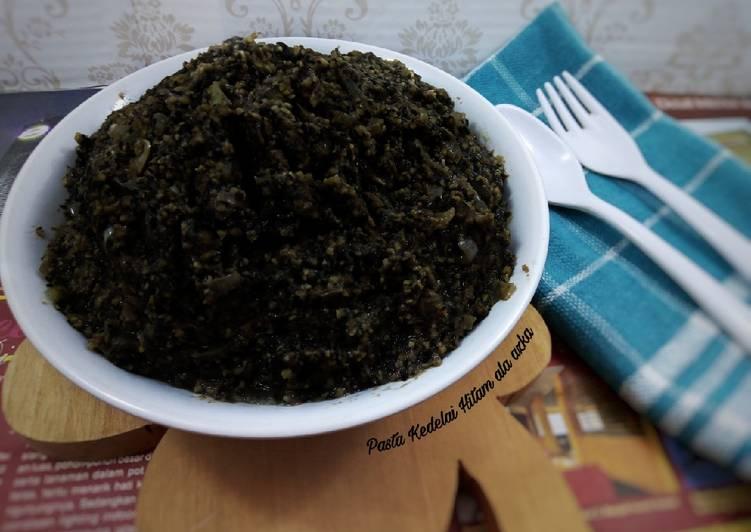 Resep Pasta kedelai hitam (black soybean paste)
