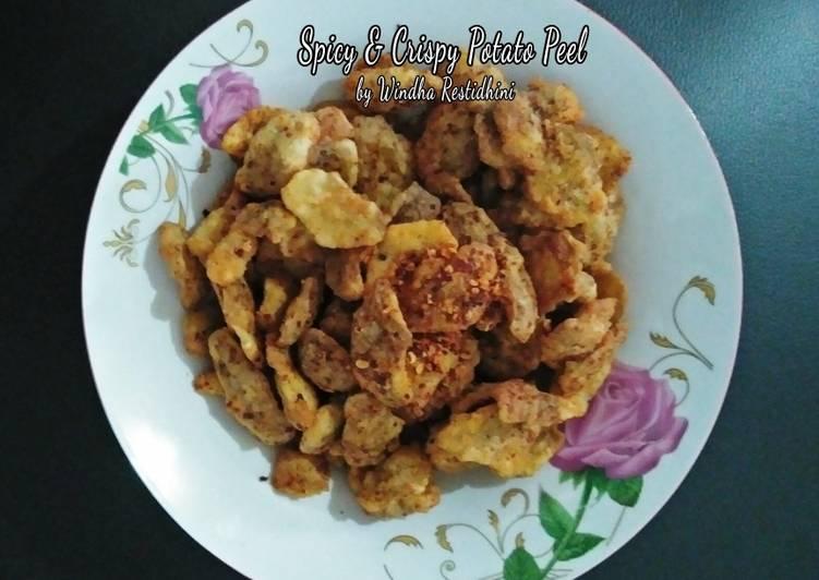 Resep Spicy & Crispy Potato Peel
