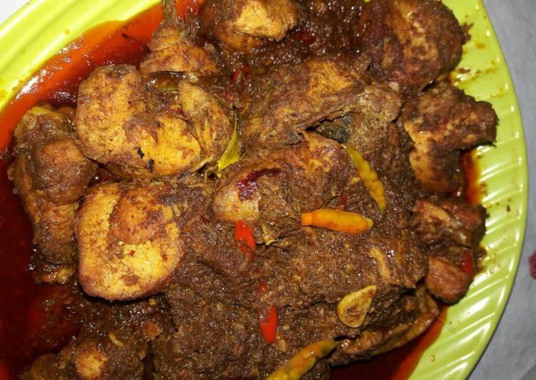 Resep Ayam Bumbu Rendang