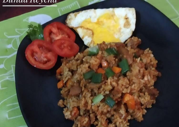 Resep Nasi Goreng Oncom Ayam Bakso