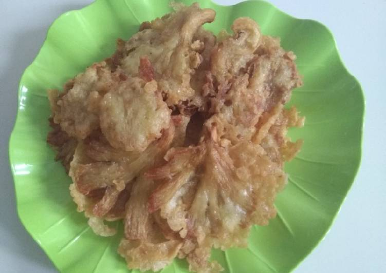 Resep Jamur tiram goreng tepung suka-suka