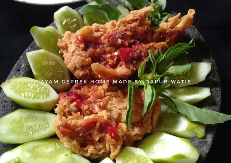 Resep Ayam geprek home made