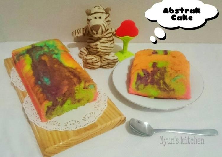 Resep Abstrak cake (Rainbow cake)