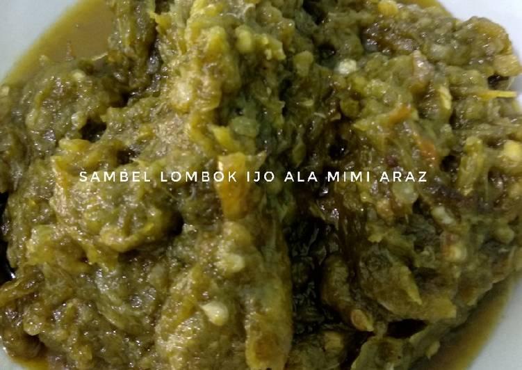Resep Sambel Lombok Ijo (Sambel Padang)