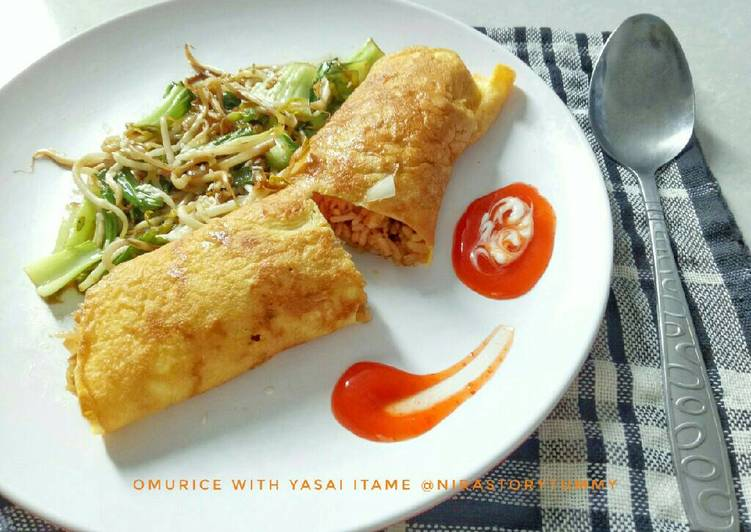 Resep Omurice with yasai itame