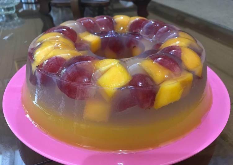 Resep Puding Mangga (Toping buah)