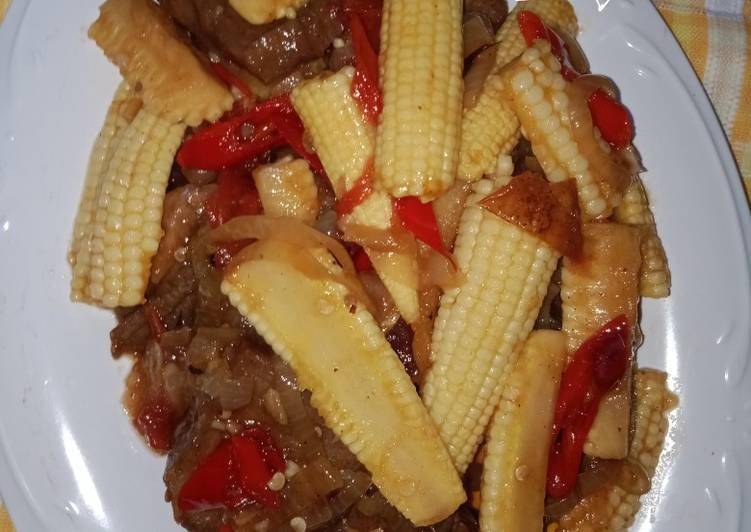 Resep Tumis daging jagung putren