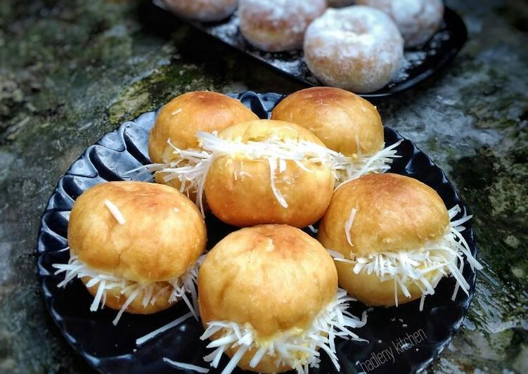 Resep Roti Goreng Isi Keju (metode autolisis)